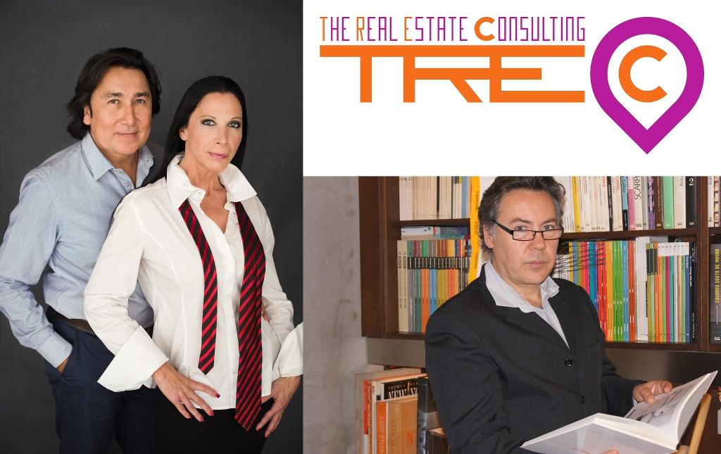 Los socios de TREC, de izquierda a derecha, Sam Gutiérrez, Adelaida Subías y Javier Mañas TREC's partners from left to right:Sam Gutiérrez, Adelaida Subías & Javier Mañas