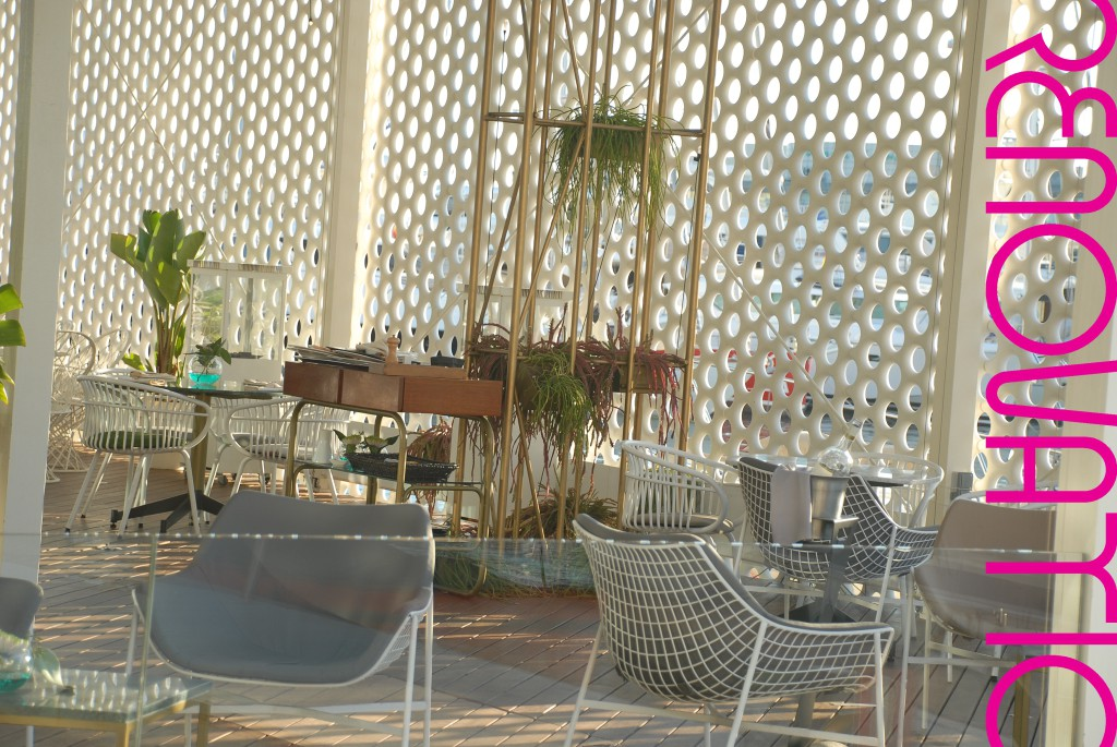 OneOcean Port Vell Barcelona OneOcean Club building A view of the interior semicovered terrace from the restautant