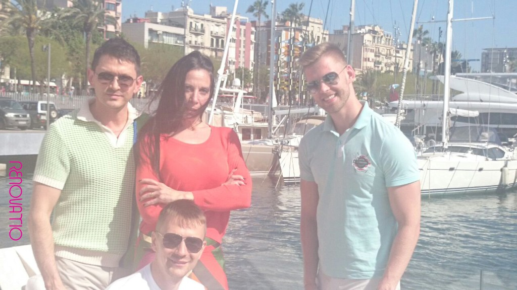Adelaida Subías and TREC's clients at the marina, the most-talked-about must-visit brand-new club & restaurant in Barcelona